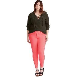 Torrid Pink Skinny Jeans Sz 22